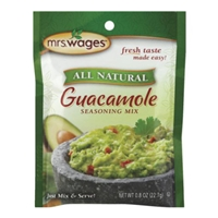 Mrs. Wages All Natural Guacamole Seasoning Mix Food Product Image