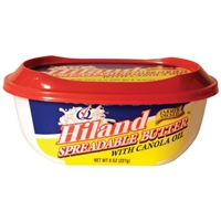 Hiland Spreadable Butter with Canola Oil, 8 oz Food Product Image