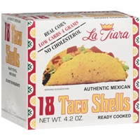 La Tiara Authentic Mexican Taco Shells, 4.2 oz, 18ct Food Product Image