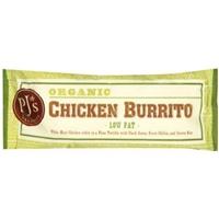 PJ's Organics Skinny Chicken Burrito Food Product Image