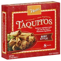 Nate's Taquitos Beef Style Food Product Image