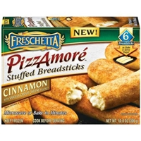 Freschetta Stuffed Breadsticks Pizzamore Cinnamon W/Vanilla Cream Cheese Filling Food Product Image