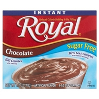 Royal Pudding & Pie Filling Pudding & Pie Filling, Reduced Calorie, Instant, Sugar Free, Chocolate Food Product Image