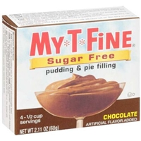 My-T-Fine Pudding & Pie Filling Sugar Free, Chocolate Food Product Image