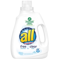 All With Stainlifters Free & Clear Detergent Food Product Image