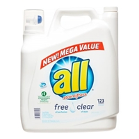 All Free And Clear Liquid Detergent 123 Loads Food Product Image