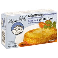 Palacio Real White Tuna Solid Pack, In Tomato Sauce Food Product Image
