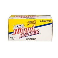 Hiland Unsalted Butter, 16 oz Food Product Image