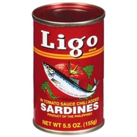 Ligo Sardines In Tomato Sauce Chili Added Food Product Image