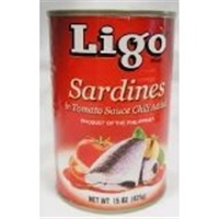 Ligo Sardines In Tomato W/chili 15oz Food Product Image