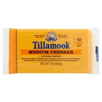 Tillamook Medium Cheddar Cheese Food Product Image