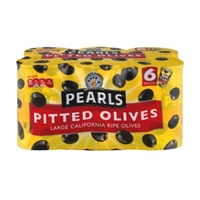 Pearls Large California Ripe Olives Pitted - 6 PK Food Product Image