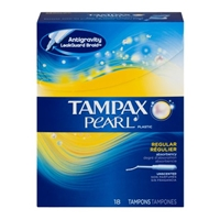 Tampax Pearl Tampons Regular Unscented - 18 CT Food Product Image