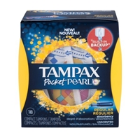 Tampax Pocket Pearl Tampons Regular Unscented - 18 CT Food Product Image