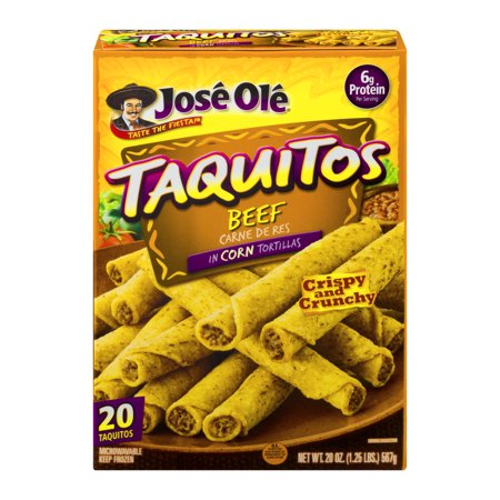 Jose Ole Shredded Steak Taquitos Food Product Image