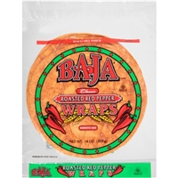 Baja Wraps Burrito Size, Roasted Red Peppers Food Product Image