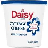 Daisy Cottage Cheese 4% Milkfat Minimum Small Curd Food Product Image