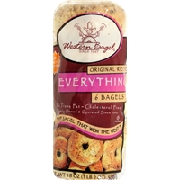 Western Bagel Everything Bagels Food Product Image