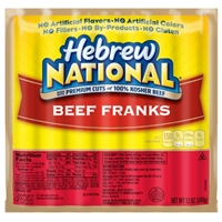 Hebrew National Beef Franks - 7 CT Food Product Image
