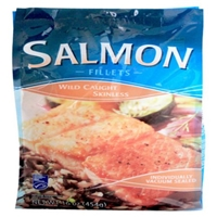 Salmon Wild Caught Skinless Fillets Food Product Image