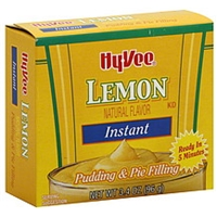 Hy-Vee Pudding & Pie Filling Instant, Lemon Food Product Image
