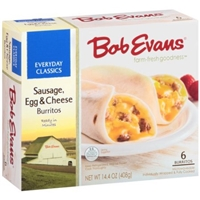 Bob Evans Burritos Homestyle, Sausage, Egg & Cheese Food Product Image