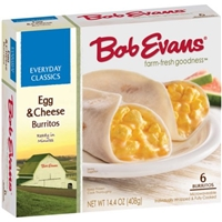 Bob Evans Everyday Classics Burritos Egg & Cheese - 6 Ct Food Product Image