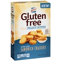 Lance Gluten Free Sandwich Crackers Peanut Butter Food Product Image