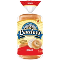 Lender's Bagels Plain - 6 CT Food Product Image