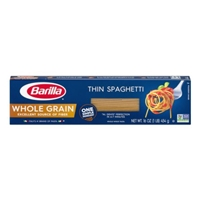 Barilla Pasta Thin Spaghetti Whole Grain Food Product Image
