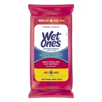 Wet Ones Antibacterial Hand Wipes Fresh Scent - 20 CT Food Product Image