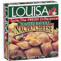 Louisa Toasted Nacho Cheese Ravioli Food Product Image