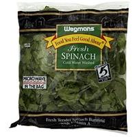 Wegmans Spinach Fresh Food Product Image