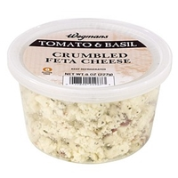 Wegmans Cheese (Soft/Cream) Tomato & Basil Crumbled Feta Cheese Food Product Image