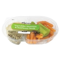 Wegmans Mediterranean Food Vegetables, Hummus & Sunflower Seeds Food Product Image
