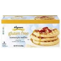 Wegmans Frozen Pancakes & Waffles Gluten Free Homestyle Waffles Food Product Image