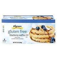 Wegmans Frozen Pancakes & Waffles Gluten Free Blueberry Waffles Food Product Image
