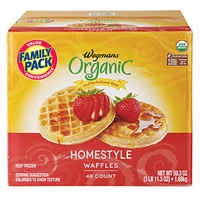 Wegmans Frozen Pancakes & Waffles Homestyle  Waffles, Family Pack Food Product Image