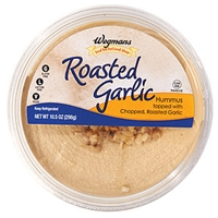 Wegmans Mediterranean Food Roasted Garlic Hummus Topped With Chopped, Roasted Garlic Food Product Image