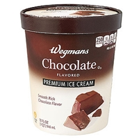 Wegmans Ice Cream & Popsicles Ice Cream, Premium, Chocolate Food Product Image