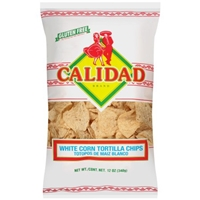 Calidad White Corn Tortilla Chips Food Product Image