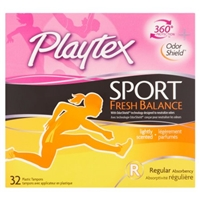 Playtex Sport Fresh Balance Tampons Regular Lightly Scented - 32 CT Food Product Image
