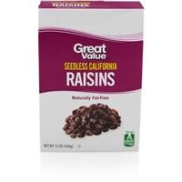 Great Value Raisins California Food Product Image