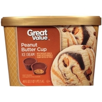 Great Value Ice Cream Peanut Butter Cup Food Product Image
