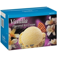 Wal-Mart Ice Cream Vanilla Flavored Food Product Image