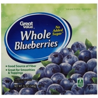 Great Value Blueberries No Sugar Added Food Product Image