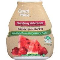Great Value Strawberry Watermelon Drink Enhancer, 1.62 fl oz Food Product Image
