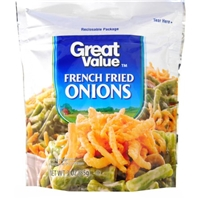 Great Value French Fried Onions, 3 oz Food Product Image