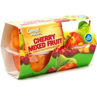 Great Value Cherry  Mix Fruit Light Syrup Cherry  Mix Fruit Light Syrup Food Product Image