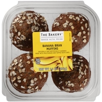The Bakery Banana Bran Muffins, 4 count, 14 oz Food Product Image